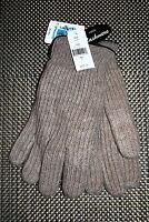 Portolano Mens 100% Cashmere Gloves Brown & Gray Sizes Small Med. Rp $125.00