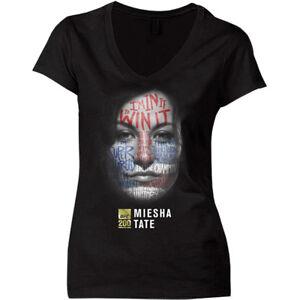 UFC-Women-039-s-Miesha-Tate-War-Paint-V-Neck-T-Shirt-Black