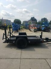 Heavy Duty Small Tilt Bed Trailer Great For Scissors Lifts Needs Some Repair