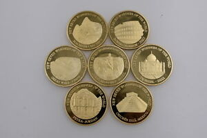 Great Wall  Seven World Wonders Coin Gold Coins Commemorative Set Collection