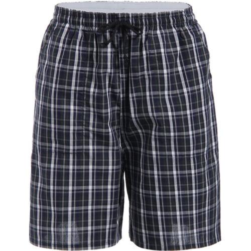 JINSHI Men/'s Casual Cotton Sleep Shorts Lounge Bedroom Stretch Loose Sleepwear