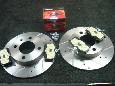 Lupo GTI 1.6 16v Drilled Grooved Brake Discs Rear Pads