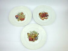 Trois Plat en porcelaine Assiette peint à la main Rosenthal Sanssouci