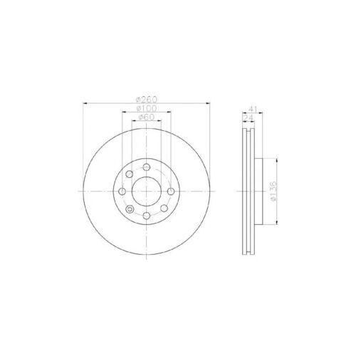 Vauxhall Tigra MK1//B 1.4 Convertible Genuine Mintex Front Brake Disc /& Pad Set