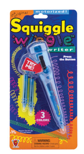 Original SQUIGGLE PEN WIGGLE WRITER Motorized Battery Interchangeable Ink Colors