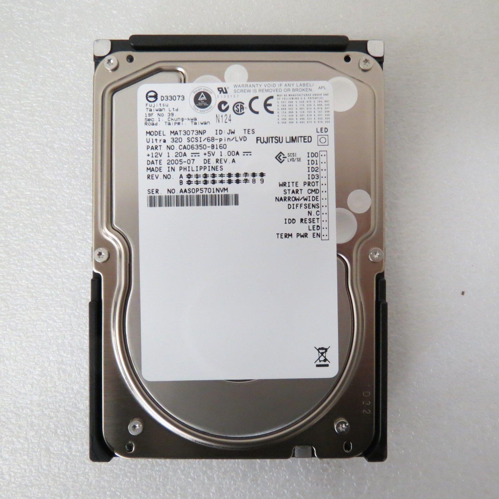 "Aasop fujitsu 73.5 gb,internal,10000 rpm,3.5"" (mat3073np) hard drive"