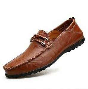 Breathable Men/'s Casual Loafers Driving Moccasin Flats Slip On Leather Shoes New