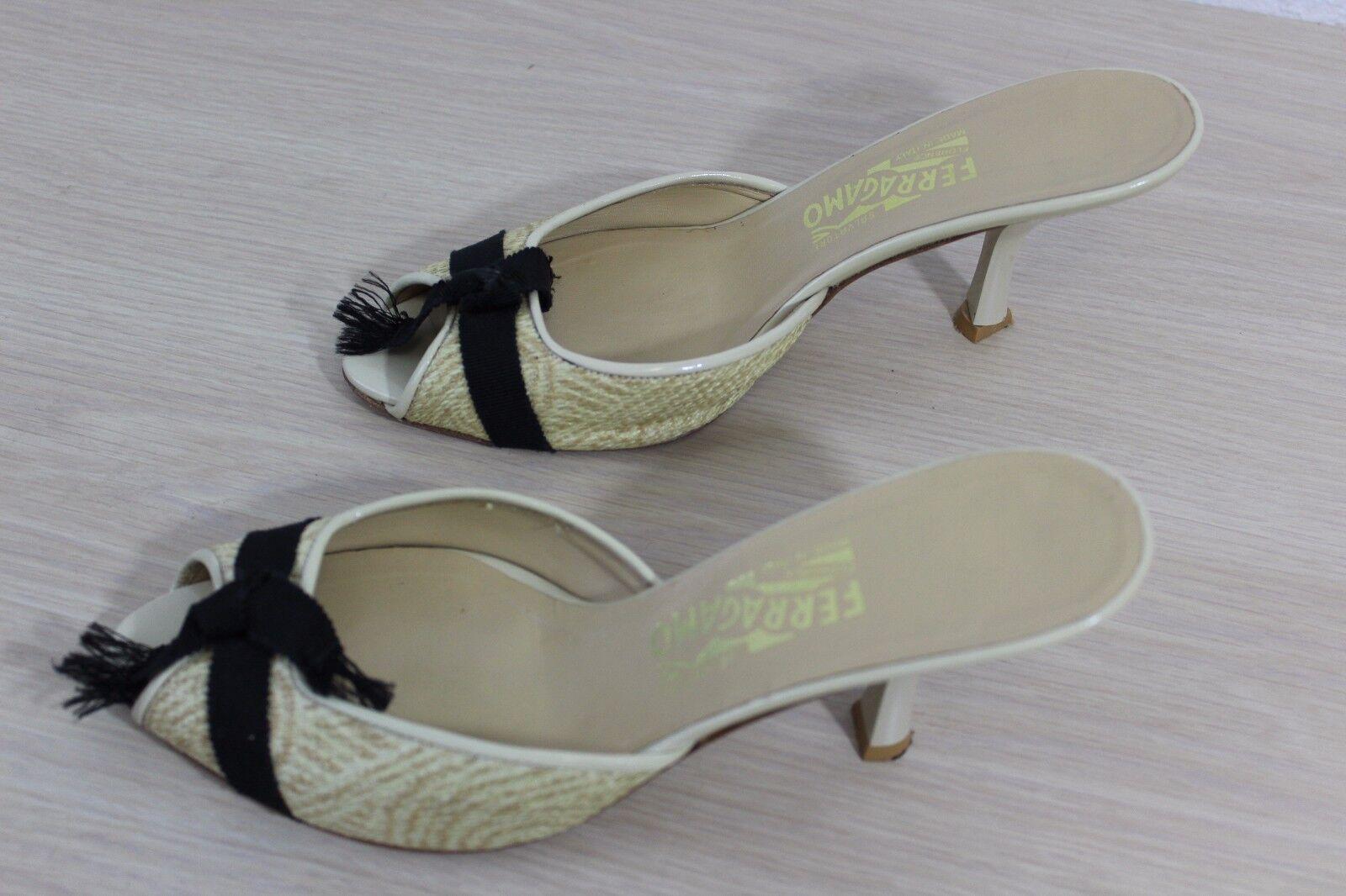 Salvatore Ferragamo Made in  Peep Toe Sandale Heels Schuhes Schuhes Schuhes Größe US 8 AA & Box c17e9d