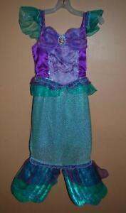 Disney-Store-Ariel-The-Little-Mermaid-Costume-Dress-Girls-5-6-Small
