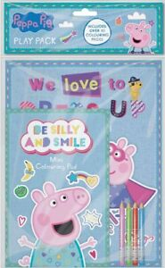 Peppa Pig George Play Packung A4 Malbuch & A5 Pad Mit Buntstifte PEPPK3