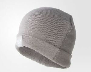 adidas-Logo-Beanie-BR2609-Mgh-Solid-Grey-Originals-ONE-SIZE-Muetzen-Wintermuetze