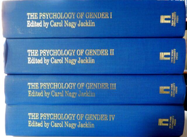 The Psychology of Gender 4 Volume Set by Carol Nagy Jacklin (1992, Hardcover)