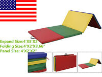 Indoor Outdoor Pu Gymnastics Mat Gym Folding Panel Yoga Exercise Tumbling Pad