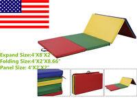 Indoor Outdoor Pu Gymnastics Mat Gym Folding Panel Yoga Exercise Tumbling Pad