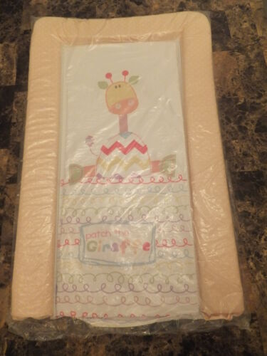 "BABY PADDED CHANGING MAT /""PATCH THE GIRAFFE/"" WITH  soft raised edges"