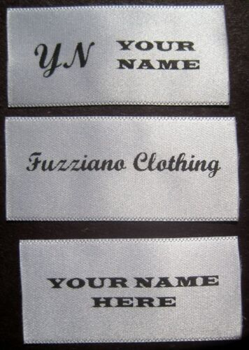 500 PIECES CUSTOM PRINTED SATIN PERSONALIZED LOGO LABELS