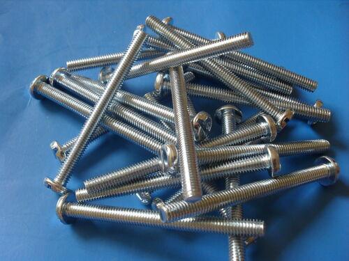 6 Mm x 70 mm de largo Ranurado Panhead Tornillos De Máquina Roscado M6 Nuevo Pack cantidad X 5