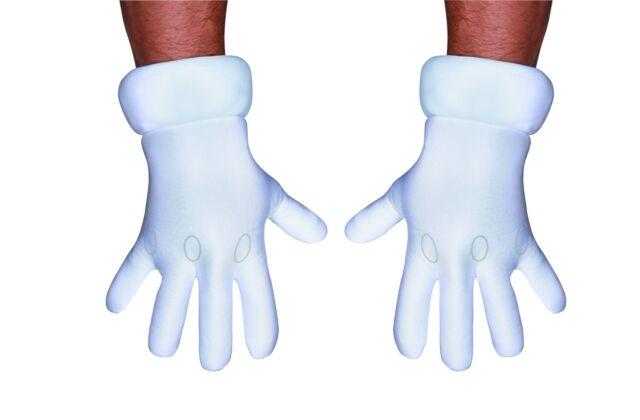 Mario Luigi ADULT Gloves Costume Accessory NEW Super Mario Bros