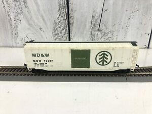 Vintage-Ho-Scale-Bachmann-MD-amp-W-10017-Box-Car