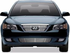 FITS HYUNDAI SONATA 2006-2008 STAINLESS CHROME BILLET GRILLE OVERLAY TOP BOTTOM