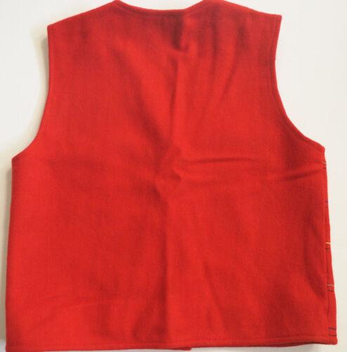 Gilet rouge brodé en laine petit noir Karavan art personnes de bouillie rdxPrn58qw