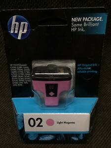 NEW HP 02 Light Magenta Ink Jet Cartridge Genuine Sealed