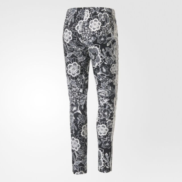 7fc9904378 adidas Florido Supepstar Track Pants Floral Yoga Gym Firebird Sweats Womens  Sz L