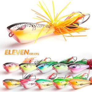 9cm-Snakehead-Frog-Topwater-Soft-Fishing-Lure-Crankbait-Hooks-Bass-Bait-Tackle