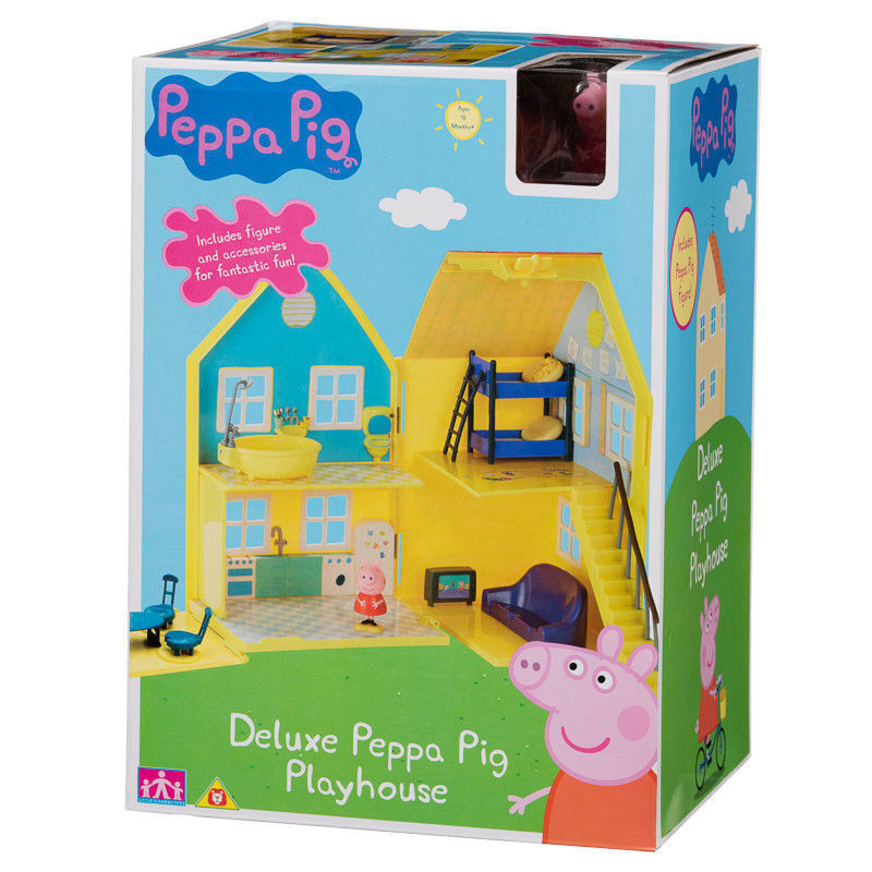 Peppa Pig deluxe playhouse Play House figures accessories accessories accessories Age 18m+ Toy Gift New 4b067c