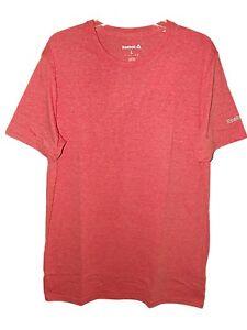 Nouveau-Homme-Garcons-Rouge-Reebok-Workout-Training-Gym-Course-T-Shirt-Top-Sz-S-M-L
