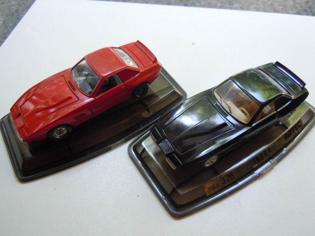 2 selten intermeccanica indra (opel) modelle von pilen bzw..artec in 1 43 mit ovp