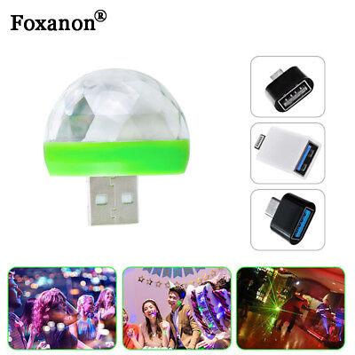 Party LED Tragbares Licht für Show // 3 Stücke Mini Disco USB Ball Licht