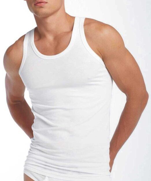 3 PACK OF MENS SINGLET 100% COTTON ATHLETIC VESTS TANK TOP GYM