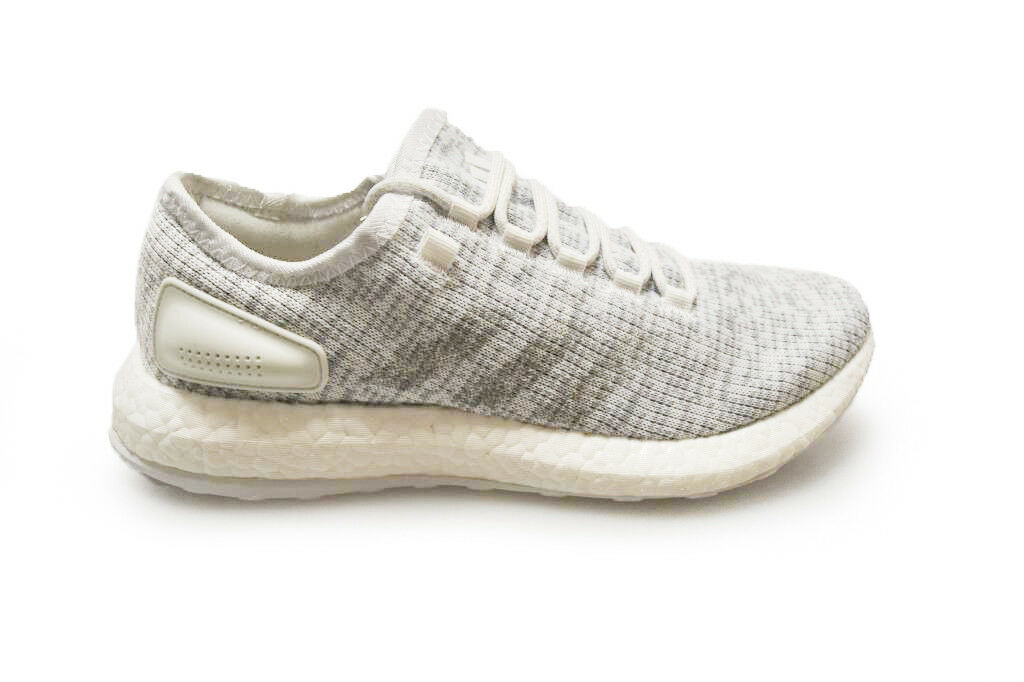 Mens Adidas PureBOOST - BA8893 - Weiß grau Trainers  | Reparieren