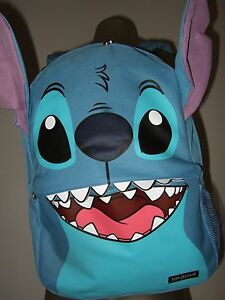 Disney-Lilo-and-Stitch-Face-Alien-Character-Ears-Backpack-School-Book-Laptop-Bag