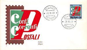 FDC - Siligato - Conti Correnti Postali - 1968 - Italia - FDC - Siligato - Conti Correnti Postali - 1968 - Italia