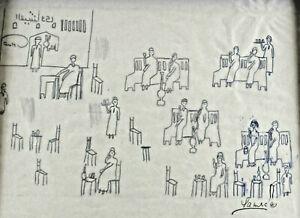 Mario-Samra-1938-Etude-Personnes-Assises