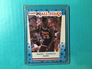 MAGIC-JOHNSON-1990-FLEER-ALL-STARS-STICKER-ODDBALL-5-LAKERS