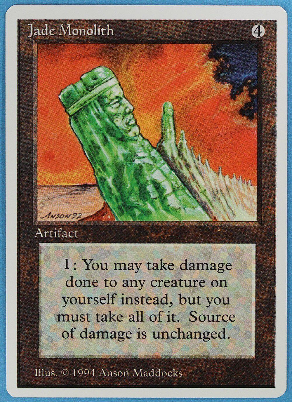 Jade monolith sommer magie edgar nm-m artefakt selten mtg - karte (id 28872) abugames