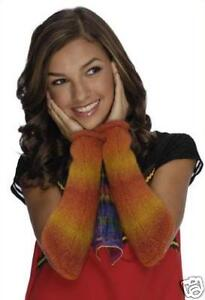 Image is loading Wizards-Waverly-Place-Alex-Russo-Arm-Warmers-Orange-  sc 1 st  eBay & Wizards Waverly Place Alex Russo Arm Warmers Orange Child Costume ...