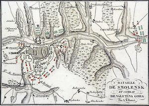 (napolÉon 1er) Campagne De Russie - Bataille De Smolensk - Gravure Du 19e Siècle