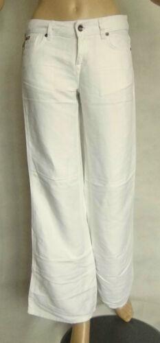 NEW LADIES WHITE//CREAM LEE COOPER LINEN MIX JEAN STYLE TROUSER SIZE 8-10-12 L32