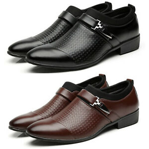 Men-039-s-Pointed-Toe-Formal-Shoes-Slip-On-Wedding-Smart-Party-Dress-Office-Work
