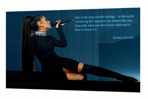 ARIANA GRANDE ONE OF THE MOST TERRIBLE PHOTO PRINT ON FRAMED CANVAS WALL ART