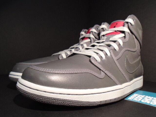 2018 Nike Air Jordan I Retro 1 KO PREMIUM AJ1 AJKO GRAPHITE GREY WHITE RED 11.5