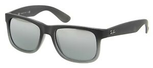 Sunglasses Ray-Ban RB4165 JUSTIN 852 88 RUBBER GREY grey TRANSP. Cal ... cd6e0a1b19