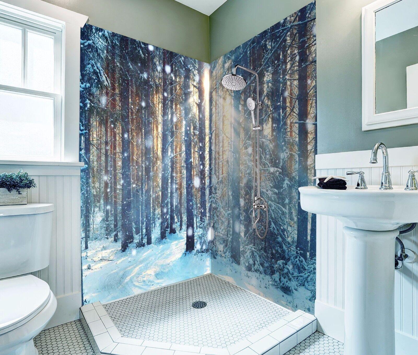 3D Snow Forest 412 WallPaper Bathroom Print Decal Wall Deco AJ WALLPAPER AU