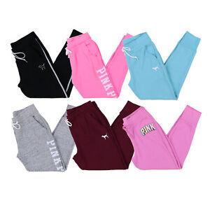Victoria-039-s-Secret-Pink-Skinny-Jogger-Sweatpants-Active-Wear-Bottoms-S-M-L-New-Vs