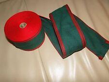 Stoff Bastelbedarf Webband Stickband Baumwolle Grün Rot Rand Sterne 8cm Neu