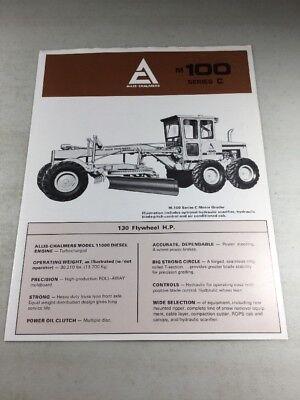 Original Allis Chalmers 100-C 150-C 200-C Motor Grader Sales Brochure